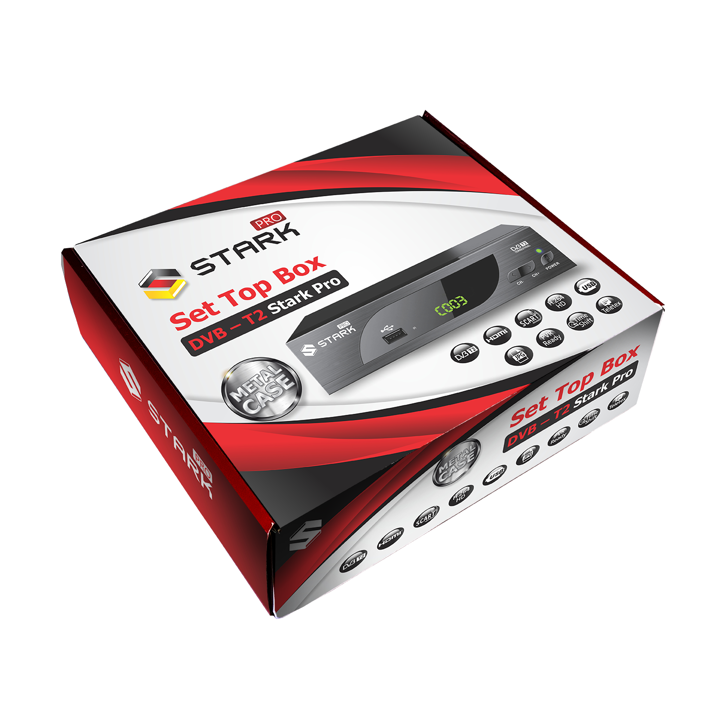 STARK PRO Set Top Box DVB-T2 PVR, teletex, metalno kućište