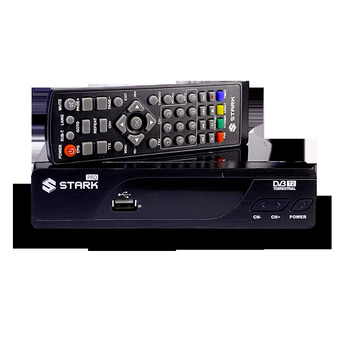 STARK PRO Set Top Box DVB-T2 PVR, teletex, metalno kućište (Slika 3)