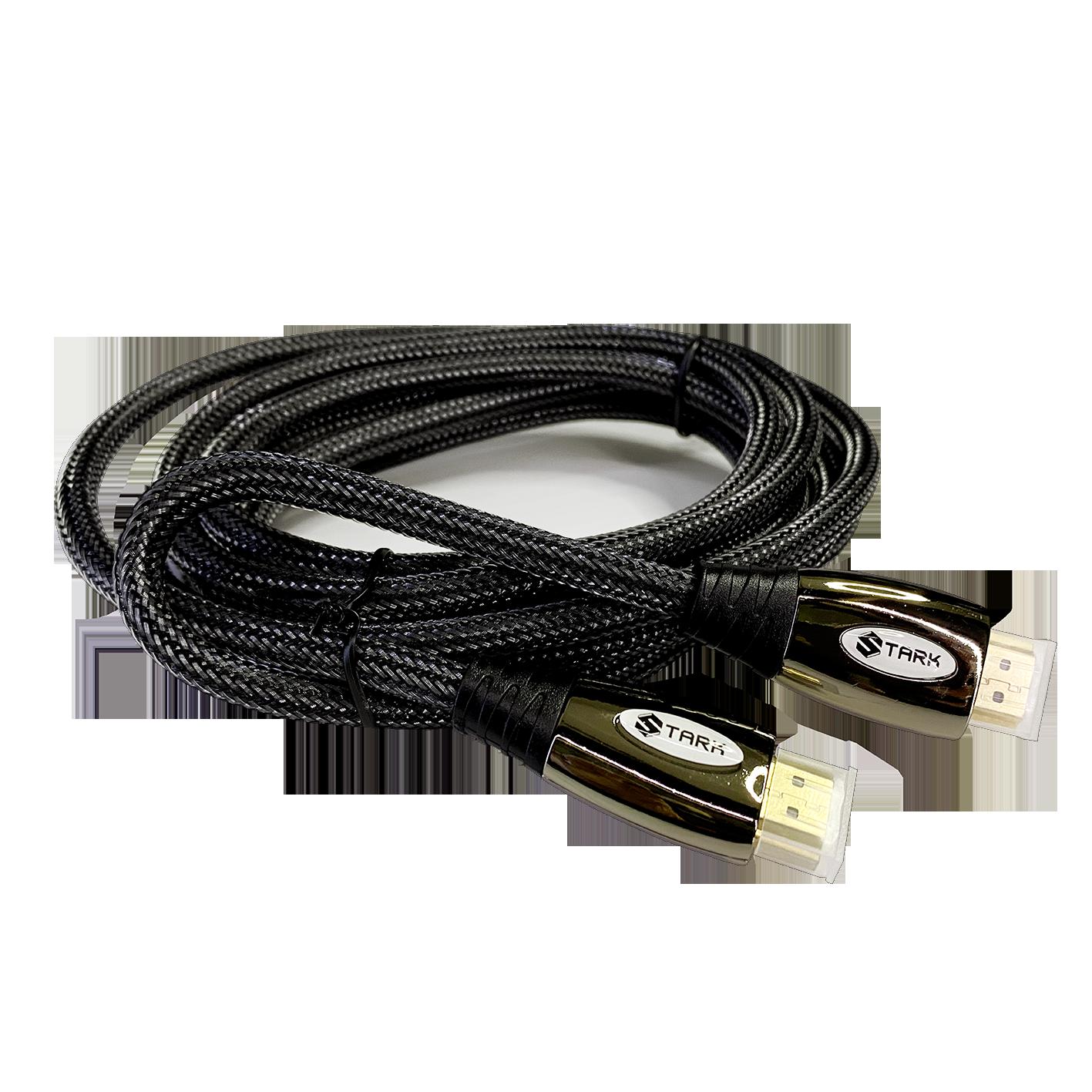 STARK kabl HDMI M-M, pozlaćen 4K(Ultra HD), metalno kućište, podržava 3D, 2m (Slika 2)