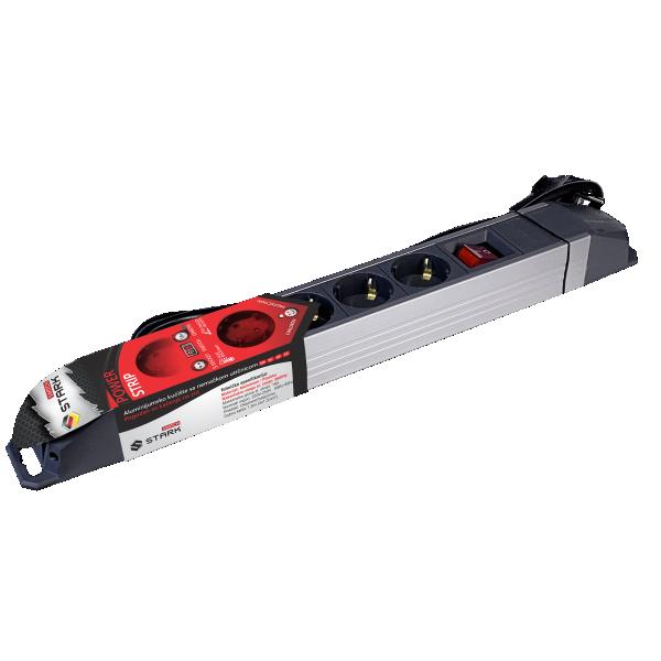 STARK Switch Produžni kabl ALU 1.8m, 5 utičnica, prekidač (Slika 2)